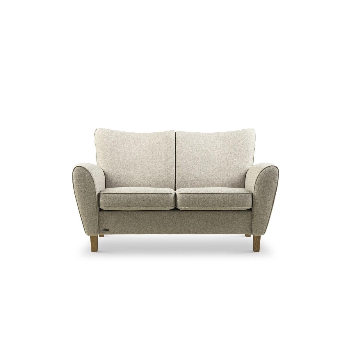 Brunstad System Pluss sofa i stof 3 personers Olieret eg Dessin: Cabana, Grå