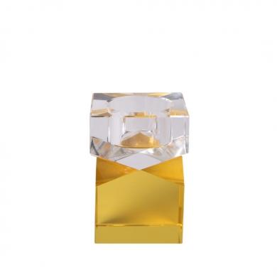 C'est Bon   Krystalstage, gul/klar - 8,5x6 cm - Bolighuset Werenberg