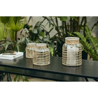 Nordal | Bamboo Candle Holder - Bolighuset Werenberg