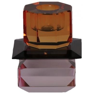C'est Bon | Krystalstage, pink/sort/rav - 8,5x7 cm - Bolighuset Werenberg