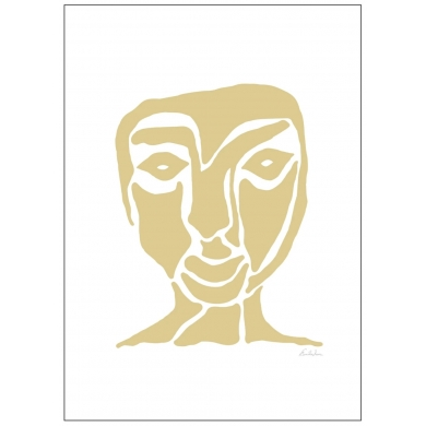 Poster & Frame | Yellow Face - Bolighuset Werenberg