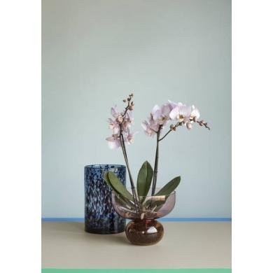 Hübsch | Vase - glas blå/bordeaux - Bolighuset Werenberg