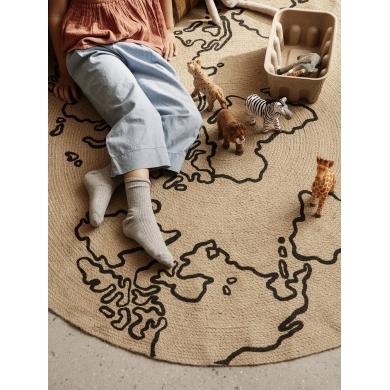 Ferm Living | Jute Carpet - World | Bolighuset Werenberg
