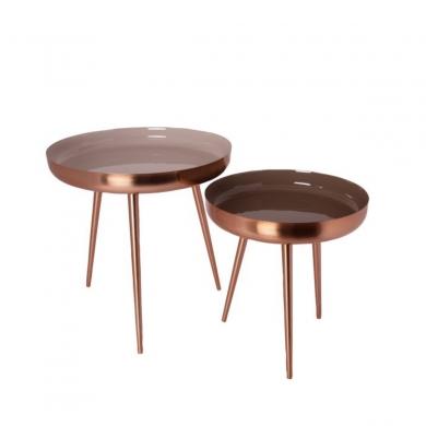 AU Maison   Nesting Tables, Sæt - Creme/Rosegold - Bolighuset Werenberg