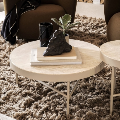 Ferm Living | Travertine Table - Large | Bolighuset Werenberg