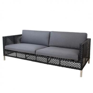 Cane-line | Connect 3 pers. sofa - Black | Bolighuset Werenberg