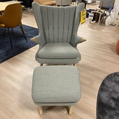 Skipper Furniture | Bamse lænestol inkl. skammel - Bolighuset Werenberg
