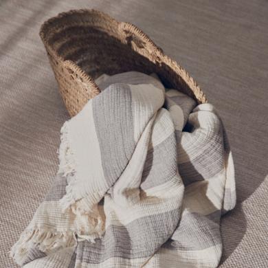 Compliments | River Block plaid - Brown/Sand | Bolighuset Werenberg